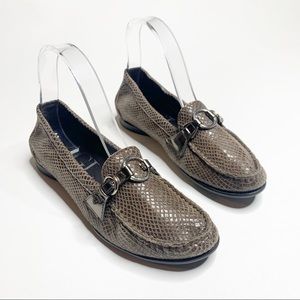 AGL Soft Pebble Leather Loafers brown size 37 1/2